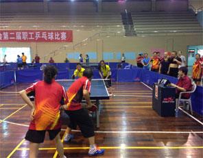 我系吴传跃教授、尤金博士后参加深圳市机关事业单位工会职工乒乓球比赛